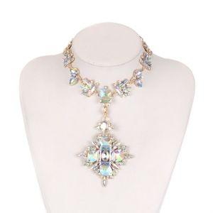 Geometric Fashion Crystal Choker Necklace